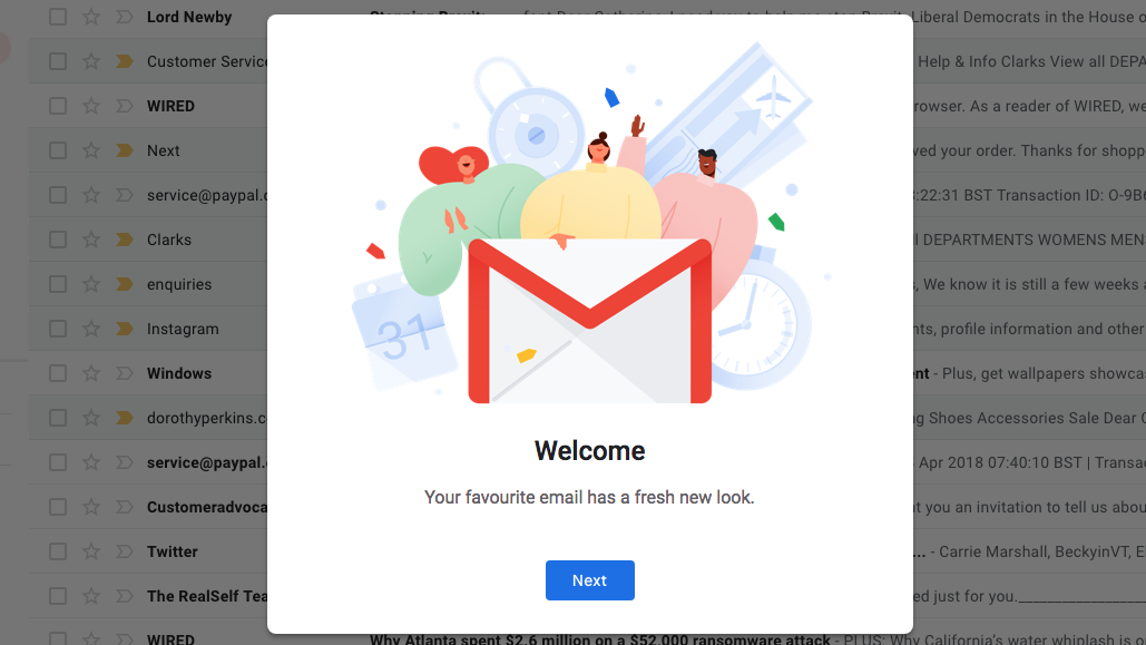 New Gmail Design