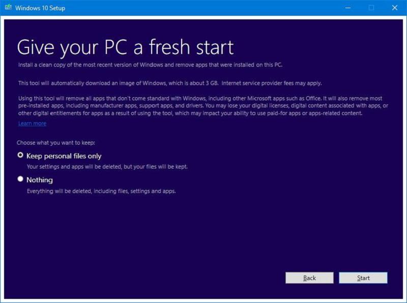 Windows 10 Fresh Install