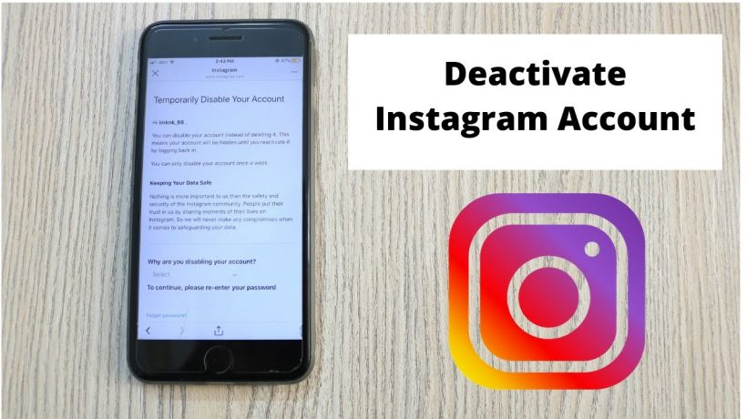 How to temporarily disable Instagram