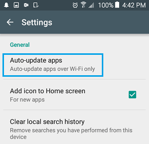 how to turn off automatic updates on android